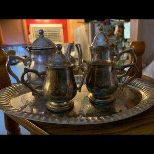 Godinger silver art co. Tea set